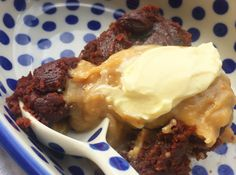 Pumpkin Brownie Pudding with Peanut Butter Sauce | Quirky Cooking | Bloglovin'