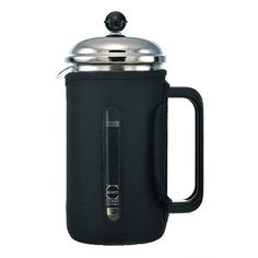 GROSCHE Fino 34 oz 1000ml Glass French Press with Thermal Insulated Neoprene Sleeve for Warmth and Protection INCLUDES 1 REPLACEMENT MESH FILTER SCREEN FREE *** For more information, visit image link.Note:It is affiliate link to Amazon.