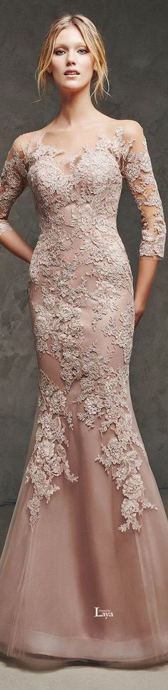 Shop the latest women's nude and blush evening dresses, lace wedding gowns and sexy prom dresses. Elegant Dresses, Pretty Dresses, Glamour, Bridal Gowns, Wedding Gowns, Lace Wedding, Wedding Rustic, Lace Dress, Dress Up