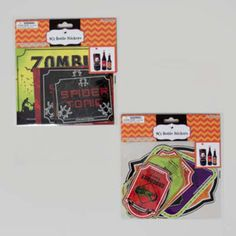 halloween bottle stickers 8ct Case of 48
