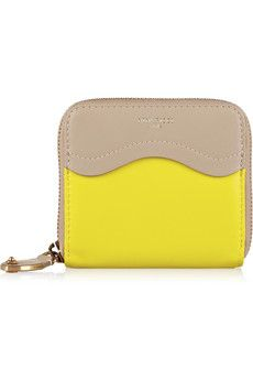 Nina Ricci Two-tone leather wallet   THE OUTNET
