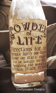 Powder of Life Return to Oz Vintage Stickers SET of by craftypagan