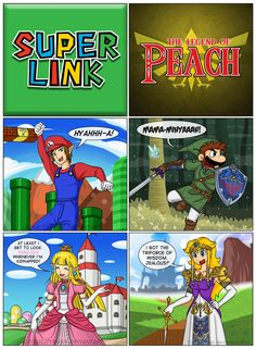 Super Link / The Legend of Peach by Lethalityrush