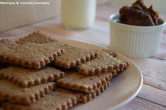Σπιτικά πτι-μπερ χωρίς βούτυρο, αυγό, φοινικέλαιο,συντηρητικά και μίξερ και δώρο ένα σετ κουπάτ ώστε να τα φτιάξετε και εσείς Biscuit Cookies, Apple Pie, Sugar Free, Biscuits, Healthy Living, Yummy Food, Cooking, Desserts, Recipes