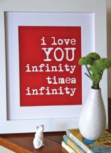 Great for a kids bedroom or #Valentines day gift - Click image to find more Quotes Pinterest pins