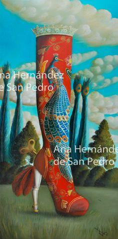Print of original Pop Surrealist painting por AnaHernandezSanPedro, €60.00