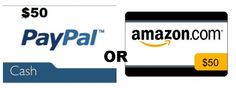 $50 PayPal or $50 Amazon eGift Card Giveaway