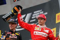 Kimi Räikkönen, Max Verstappen, Formule 1 Grand Prix van Oostenrijk 2016, Formule 1