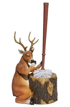 Stinky Deer Resin Toilet Brush and Holder  Rustic Lodge Decor -- You can get more details by clicking on the image. Note:It is Affiliate Link to Amazon.