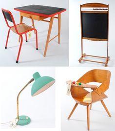 vintage children's furniture. love that little play chair.