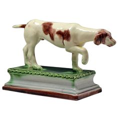 Ralph Wood Staffordshire Pottery figure of a hound on base 18th century