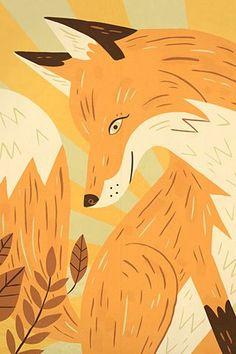 Foxes, Owen Davey Illustration
