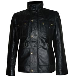 Welcome To the Punch James McAvoy Geniune Black Leather Jacket  With the Welcome to the Punch James McAvoy leather jacket you can commemorate a film whose script had the honor of being featured on the 2010 Brit List three years before it was actually released. This action thriller features an