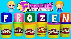 NEW Frozen Fashems Play Doh Surprise Eggs Disney Princess Toys DCTC Huev...