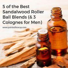 Sandalwood essential oil has so many amazing benefits! This post shares 5 easy sandalwood roller ball blends (for everyone) plus 3 colognes for men! Essential Oil For Men, Wild Orange Essential Oil, Homemade Essential Oils, Making Essential Oils, Cardamom Essential Oil, Sandalwood Essential Oil, Cedarwood Essential Oil, Essential Oil Perfume
