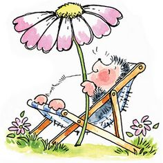 penny black hedgehog in deckchair with flower - Google Search