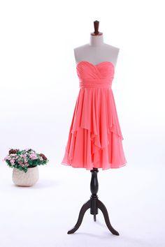 Inviting Sweetheart Short Chiffon Dress With Ruffled Hemline  Read More:     http://image1.nextdressin.com/index.php?r=elegant-one-shoulder-sleeveless-chiffon-bridesmaid-gown-1.html