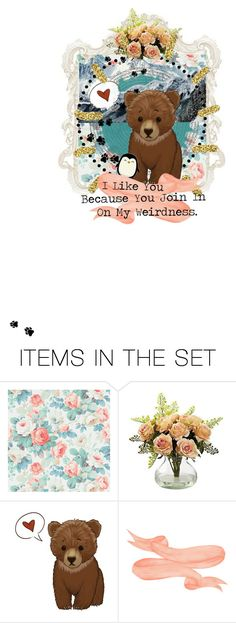"""Beary Good Friends"" by theeverywheregirl ❤ liked on Polyvore featuring art"