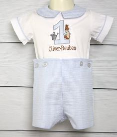 Bunny Romper for Baby Boy Easter Outfit, Peter Rabbit Outfit for Boy, Boys Easter Outfit, Boy Easter Outfit   293708