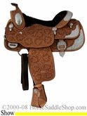 "16"" Billy Cook California Show Saddle with Cut-Away Skirts 9014"