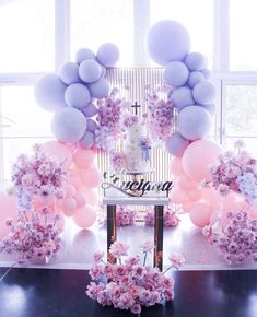 Such a gorgeous cake display with such beautiful color combination 💜💗. Styling & Florals by Props by… Deco Baby Shower, Girl Shower, Baby Shower Themes, Bridal Shower, Shower Ideas, Birthday Party Decorations, Party Themes, Wedding Decorations, Birthday Parties