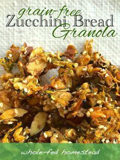 Grain-Free Zucchini Bread Granola by @wholefedhomestead #paleo