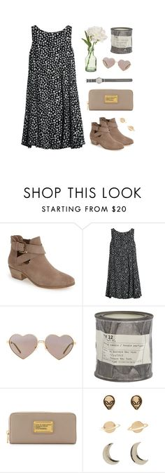 """Untitled #86"" by lilybear115 ❤ liked on Polyvore featuring Sole Society, MANGO, Wildfox, Le Labo, Marc by Marc Jacobs, PEONY, J.Crew, booties and marcjacobs"