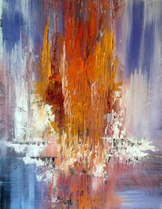 ARTFINDER: Color rainbow  - Abstract Acrylic Pai... by Mo Tuncay - Overview Handmade item Dimensions: 70x90cm  High quality heavy Gallery wrapped canvas , I ship my paintings with original painting packaging  worked  w...