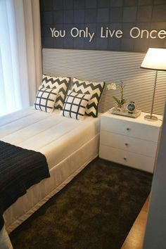 Single Bedroom, Small Room Bedroom, Girls Bedroom, Bedroom Furniture, Bedroom Decor, Small Bedroom Designs, Boys Room Decor, Awesome Bedrooms, Living Room Interior