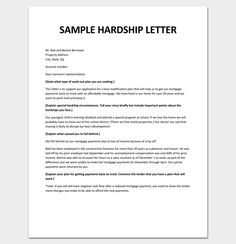 Economic Hardship Sample Letter  How You Can Benefit From A