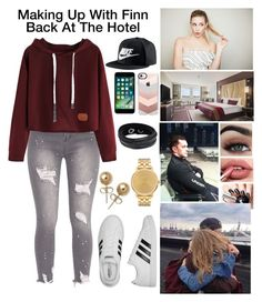 """Amelia Makes Up With Finn"" by stonecoldamelia ❤ liked on Polyvore featuring adidas, NIKE, AT&T, Casetify, Swarovski, Bling Jewelry and Nixon"