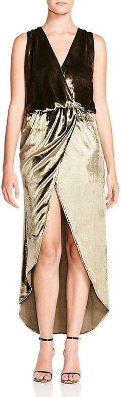 Haute Hippie Haute Hippe Crossover Velvet Gown