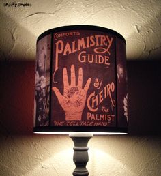 Obscure Fate lamp shade lampshade - lighting, halloween decor, boho, bohemian decor, fortune teller,spiritualism, witchcraft, Spooky Shades