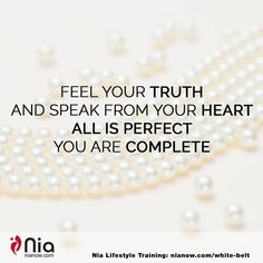 NIA PEARLS: The truth comes from the heart. #NiaNow