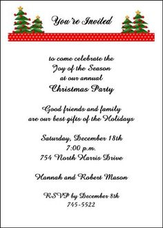 add some holiday Christmas trees along with your unique invitation wordings to your party invitations available exclusively at InvitationsByU, all with gigantic savings