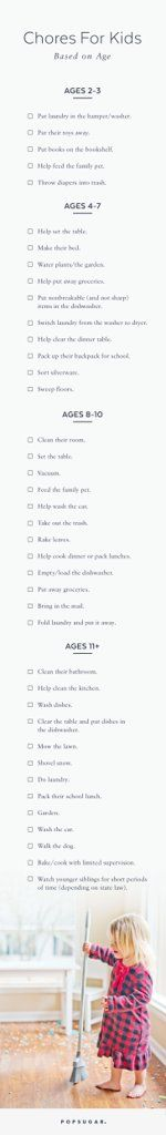 These Are the Chores Your Child Should Be Doing This Year Based on Their Age
