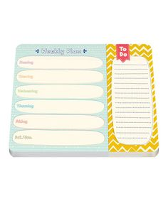 Look what I found on #zulily! Weekly Planner Two-Section Note Pad by Studio Oh! #zulilyfinds