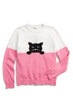 kate spade new york kids intarsia cat sweater (Toddler Girls & Little Girls) available at #Nordstrom