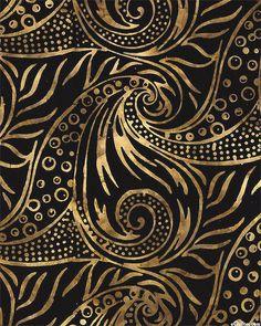 Java Sassy & Subtle - Bold Swirls Batik - Black