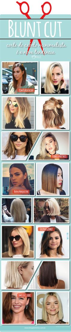 Blunt cut: corte de cabelo minimalista é a nova tendência - Blog da Mimis #blogdamimis #cabelo #hair #bluntcut #reto #corte #design #dica #moda #trend