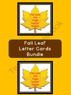 Fall Leaf Letter Flashcards and Posters Bundle from My Kinder Garden on TeachersNotebook.com (106 pages)  - Here is the Fall Leaf Letter Cards in a bundle which includes the Fall Leaf Full Page Alphabet Letter Cards Uppercase and Lowercase and the Fall Leaf Alphabet Letter Cards Uppercase and Lowercase.