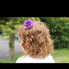 Flower girl idea  www.facebook.com/hairbyleeanne