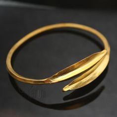 Bracelet ethnique doré bronze croisé Peul/Fulani