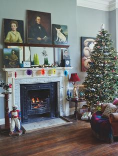 Jim and Chloe Read have filled their home with 1940s finds and created a festive look that feels anything but dated