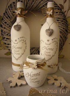 Turn Your Empty Wine Bottles Into Great Works Of Art Decorating . turn your empty wine bottles into great works of art decorating diy crafts empty wine bottles - Diy Wine Bottle Crafts Empty Wine Bottles, Wine Bottle Corks, Glass Bottle Crafts, Painted Wine Bottles, Diy Bottle, Bottles And Jars, Decorated Bottles, Plastic Bottles, Vintage Bottles