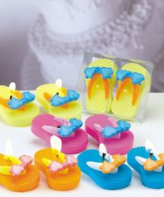 Mini Flip Flop Candles...make adorable favors for any seaside event or beach party
