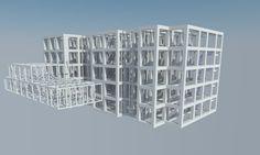 3D Struktur Rumah Susun Trophy Yogyakarta #rusunawa #rusun #rumahsusun #desainrumahsusun #flathousedesign #flat #flathouse #yellowhouse