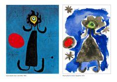 Joan Miró interpretat per un nen de 5 anys (P4) amb aquarel·les