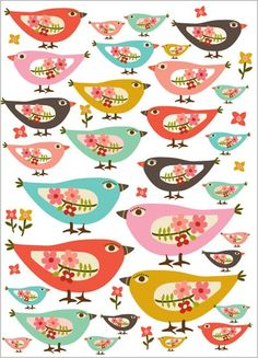 Things I love: birds and flowers