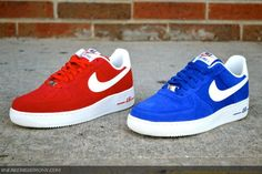 ff0d216a349 Nike Air Force 1 Low Blazer Pack University Red and Hyper Blue